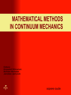 Mathematical methods in continuum mechanics