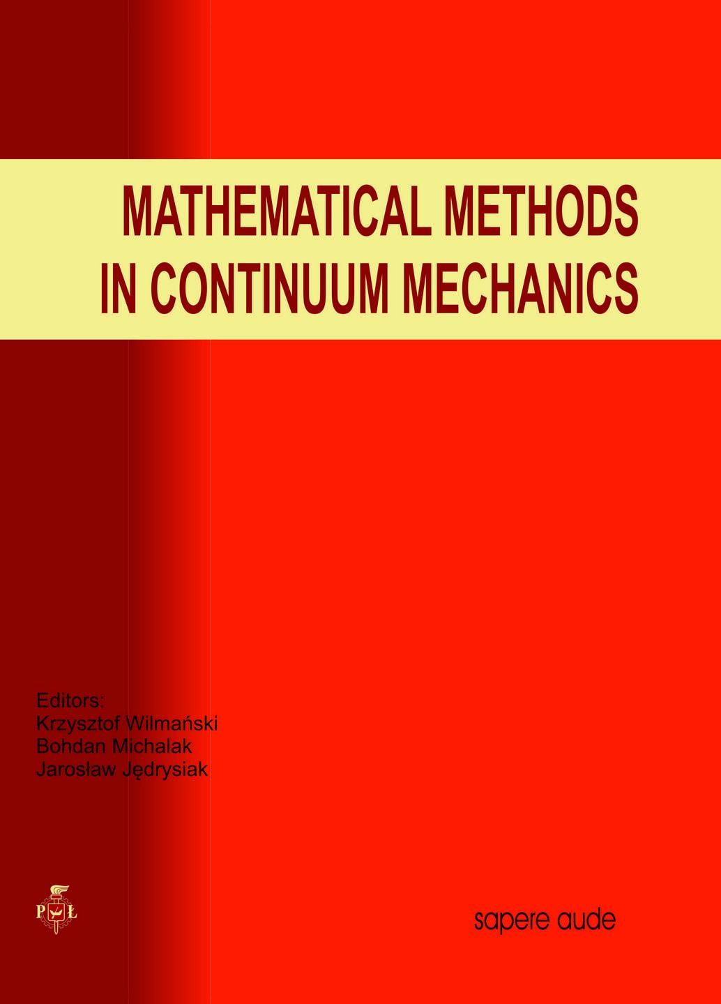 Mathematical methods in continuum mechanics