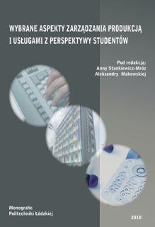 Wybrane aspekty zarządzania produkcją i usługami z perspektywy studentów