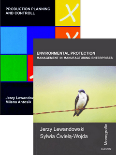 ZESTAW: Dwie książki Environmental protection management in manufacturing enterprises oraz Production planing and controll